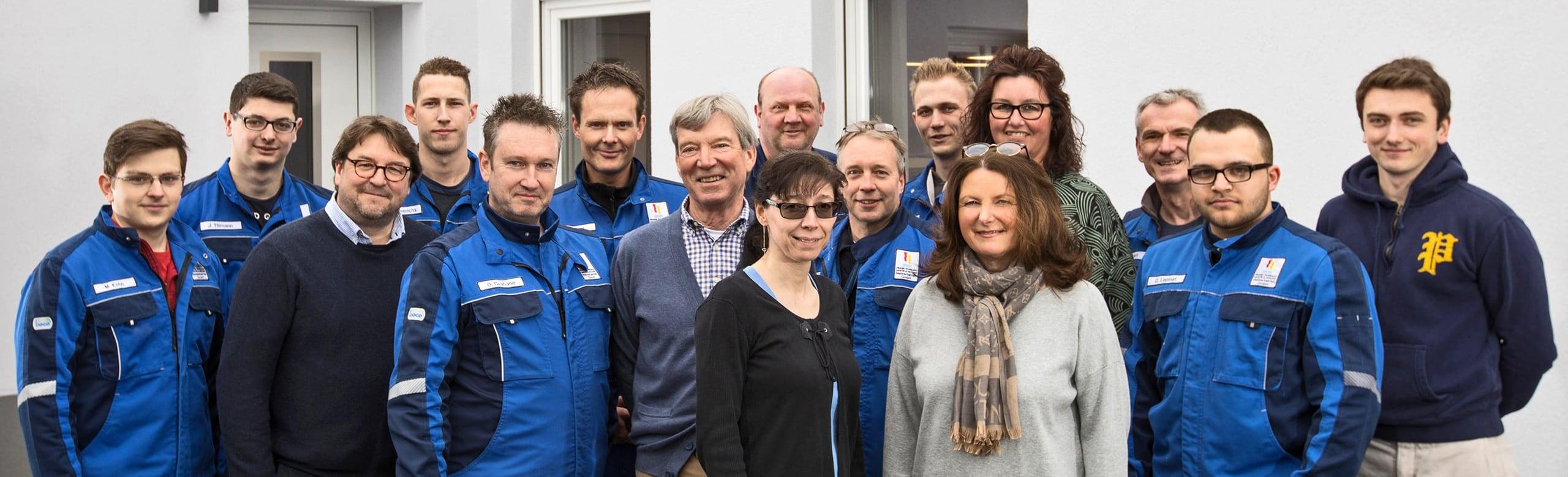 Gruppenbild des Teams von Frank Roßbach